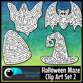 Halloween Maze Clip Art Set 2