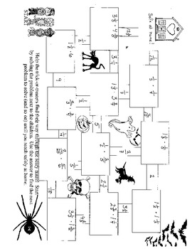 Halloween Maze (Multiplying fractions and mixed numbers)