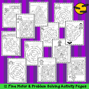 Halloween Activities : Halloween Mazes - Fine Motor and Problem Solving