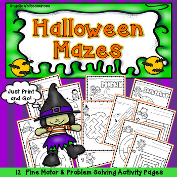 Halloween Activities : Halloween Mazes - Fine Motor and Problem Solving