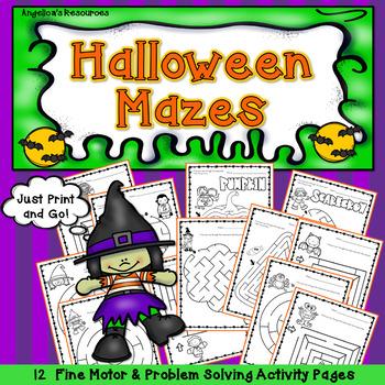 Halloween Activities : Halloween Mazes
