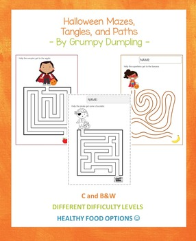Halloween Mazes, Tangles, and Paths {Different Difficulty Levels}