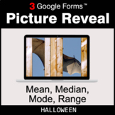 Halloween: Mean, Median, Mode, Range - Google Forms Math |