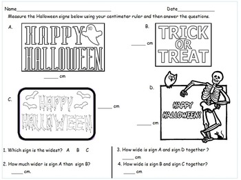 2nd Grade Halloween Measurement Comparison Math Centers Eureka Math Module 2