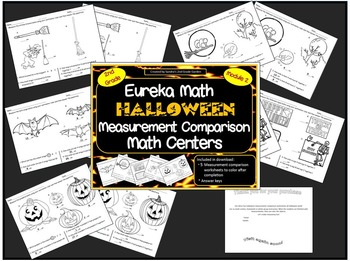 2nd Grade Halloween Measurement Comparison Math Centers Eureka Math Module 2