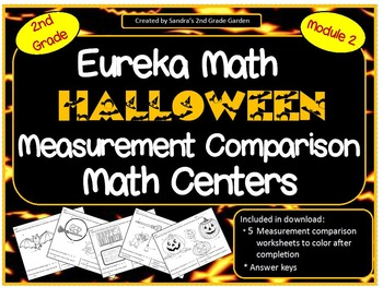 2nd Grade Halloween Measurement Comparison Math Centers Eu