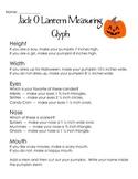 Halloween Measurement Glyph (3rd Grade Common Core)