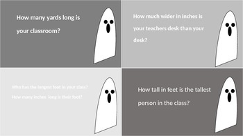 Halloween Measurement Task Cards