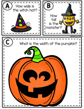 Halloween Measurement Task Cards