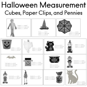 Halloween Measurement With Cubes, Paper Clips, and Pennies