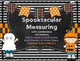Halloween Measuring Center-Task Cards- Scoot Game 2.MD.A.1 Common Core