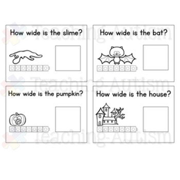 Halloween Measuring Task Cards