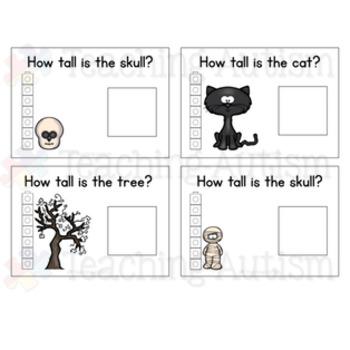 Halloween Measuring Task Cards