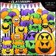 Halloween Clip Art & B&W Bundle (5 Sets)