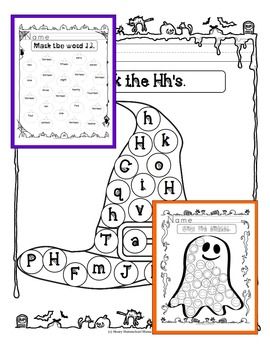 Halloween Mega Bundle with 8 Spooky Themed Early Learning Activities