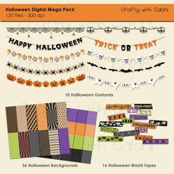Halloween Mega Pack Clip Art - 40% OFF