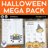 Halloween Reading Writing and Math Activities 1st and 2nd Grades