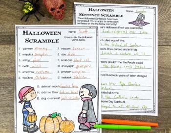 Halloween Reading Writing and Math Activities