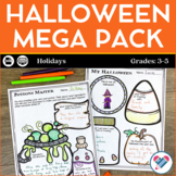 Halloween Reading Writing and Math Activities