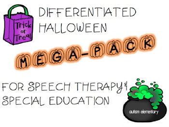 Halloween Mega-Pack for Special Education - 3 levels of Ac