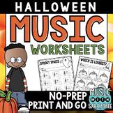 Halloween Mega Pack of Music Worksheets
