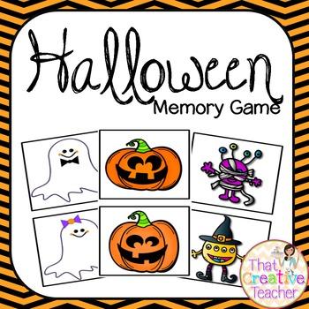 Halloween Memory Activity