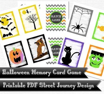Halloween Memory Card Game PDF Printable Download