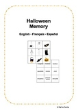 Halloween Memory Game English French Spanish