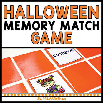Halloween Memory Match Game Freebie