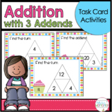 Addition with Three Addends Task Cards