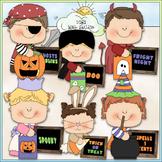 Halloween Message Kids Clip Art - Halloween Clip Art - CU
