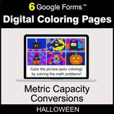 Halloween: Metric Capacity Conversions - Digital Coloring