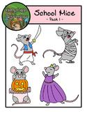 Halloween Mice - Pack one- Clip art