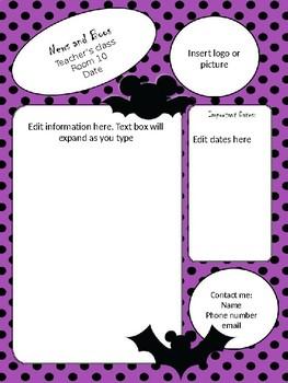 4 Halloween Mickey Newsletter templates