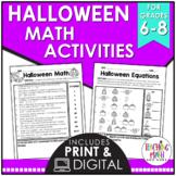 Halloween Math Activities Middle School | Halloween Math A