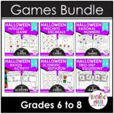 Halloween Middle School Math Activities & Games BUNDLE