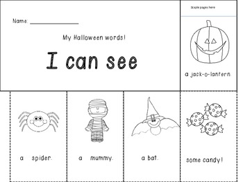 Halloween Mini Book!  Halloween Writing