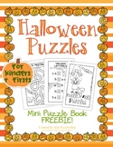 Halloween Mini Book Freebie for Kinders and Firsts