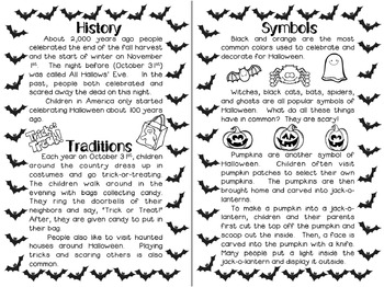 Halloween Mini Book and Question Hunt