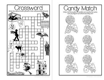 Halloween Mini Books for Grades K-5