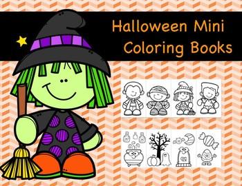 Halloween Mini Coloring Book