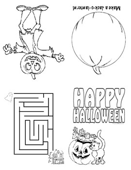 Halloween Mini Coloring Book by Miss Slivnik | Teachers Pay Teachers