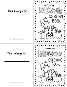 Halloween Mini Coloring Book K-2 by Jessica Bryant | TpT