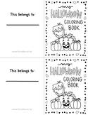 Halloween Mini Coloring Book K-2