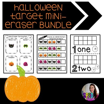 Halloween Target Mini-Eraser Activity Bundle
