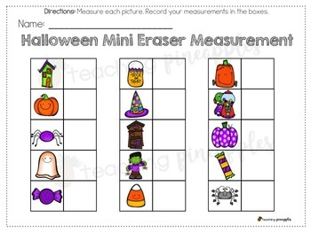 Halloween Mini Eraser Measurement