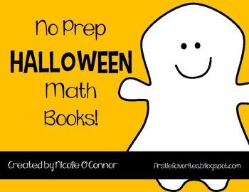 Halloween Mini Math Books! (NO PREP)