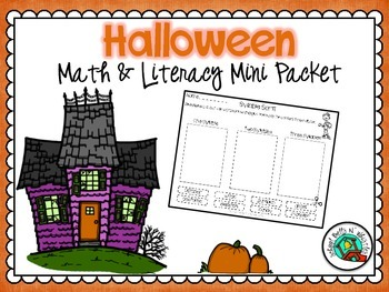 Halloween Mini Math and Literacy Set