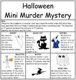 Halloween Mini Murder Mystery