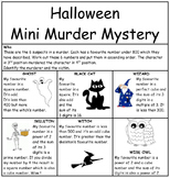 Halloween Mini Murder Mystery